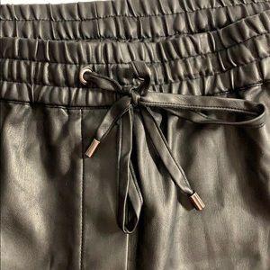 Soft Faux Leather Straight Leg Pants